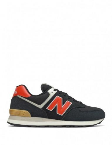 New Balance 574 Negra/Naranja