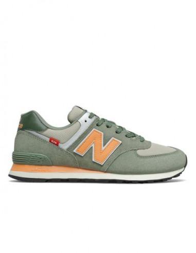 New Balance 574 Green/Orange