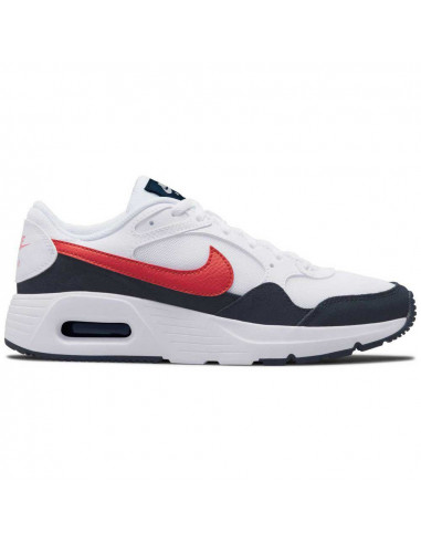 Nike Air Max SC White/University Red-...