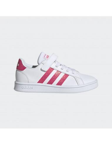 Adidas Grand Court C White/Pink