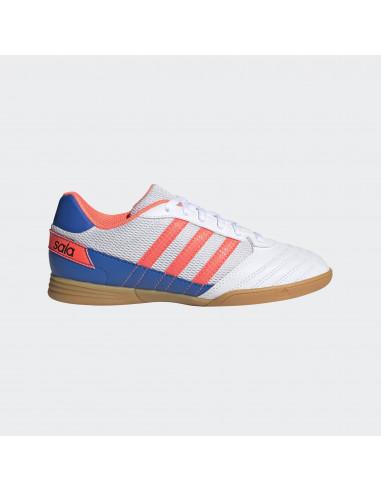 Adidas Super Sala Jr Blanca/naranja/Azul