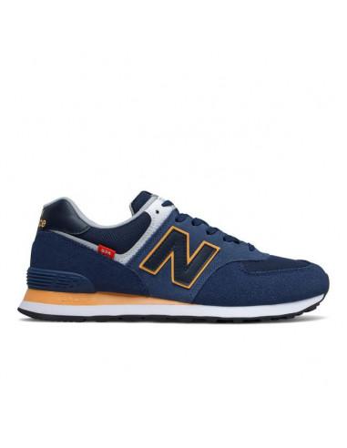 New Balance 574 Marino/Naranja/Blanca